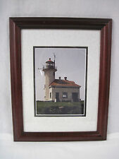 Vintage Cape Arago Lighthouse-Oregon-picture with frame 14 x 11-1998...nt