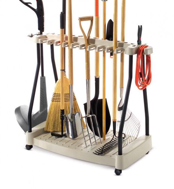 Suncast Rtc1000 Premium Garden Tool Storage Cart Rack With Wheels