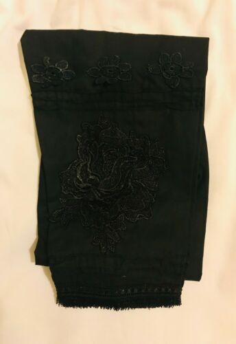 Pakistani Indian Trousers Pants Stylish Cotton 3D Flower With Printext Pant