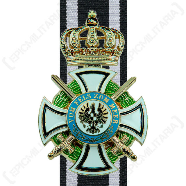Ww1 House Order of Hohenzollern - Repro Military Medal Prussian Knights  Cross