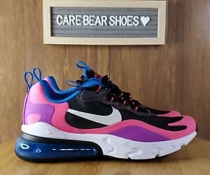 Nike Air Max 270 React Gs Black White Hyper Pink Bq0101 001 Size