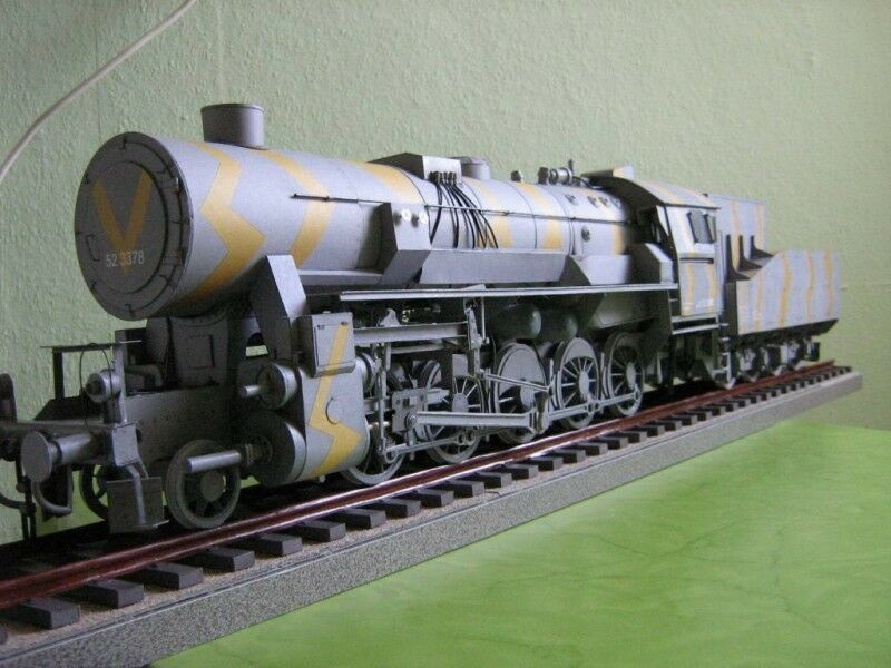 Locomotora Guerra Br 52 con Extensor 1 25 con Piezas Cortadas a Láser Modelik