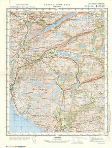Russian Soviet Military Topographic Maps EGERSUND Norway 1100