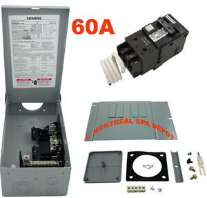 Details About Spa Hot Tub Siemens Load Center With 60a Gfci Breaker Double Poles 120 240v