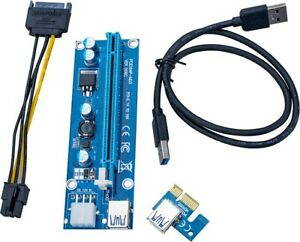 New 6Pin USB3.0 Pcie PCI-E Express 1x To 16x Extender Riser Card Adapter Cable G