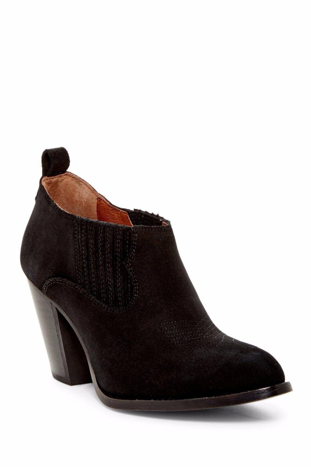 Nuevo En Caja Frye Ilana Shootie en Negro de de de cuero de gamuza Sin Cordones botas Botín 7.5  278  punto de venta de la marca