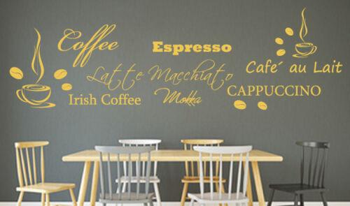 Wall Tattoo Coffee Varieties Coffee Beans WALL STICKER KITCHEN deco wallart W079