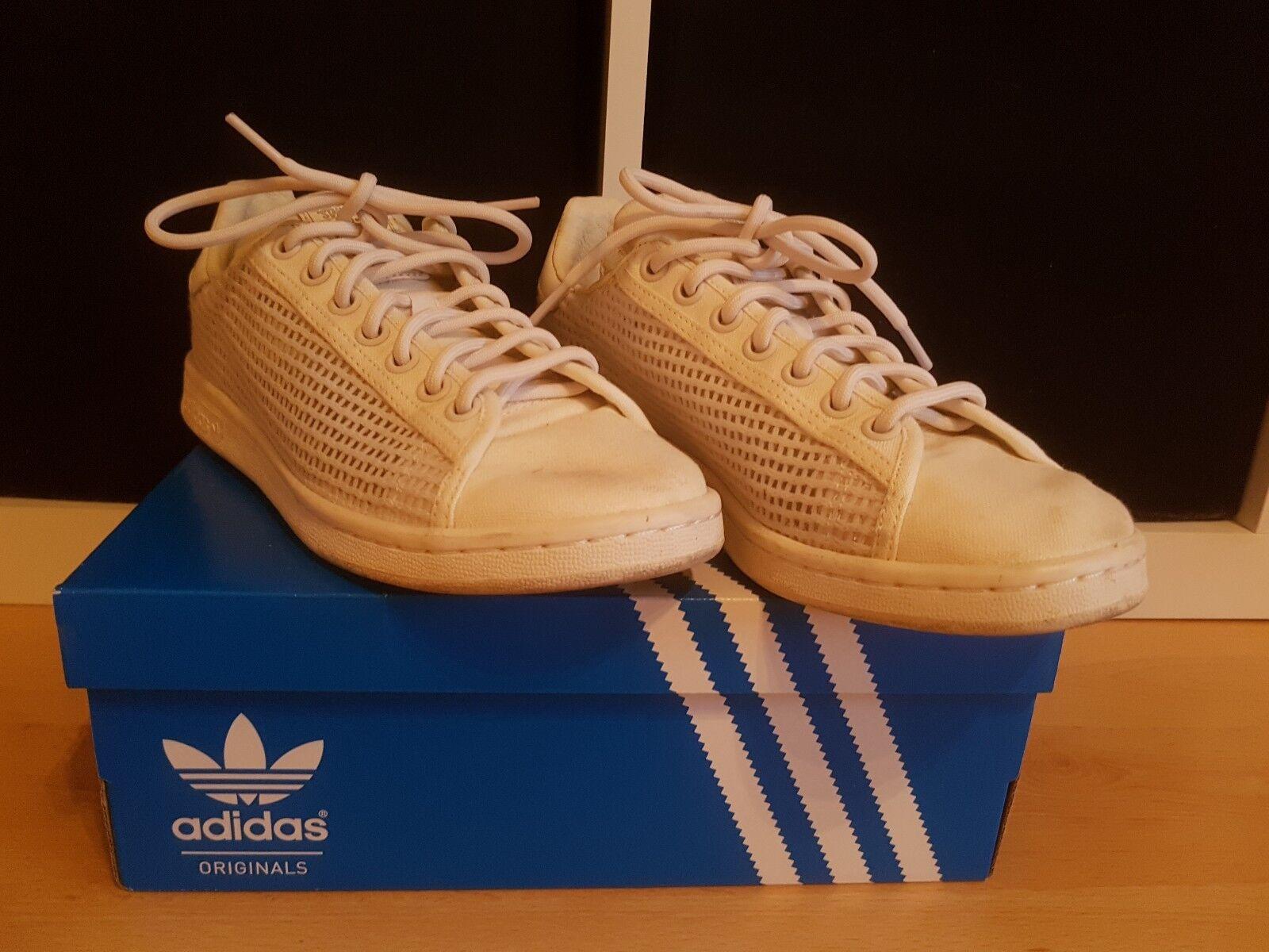 Adidas Stoff Stan Smith 39 2/3 Stoff Adidas weiß creme wie neu 7f02b4