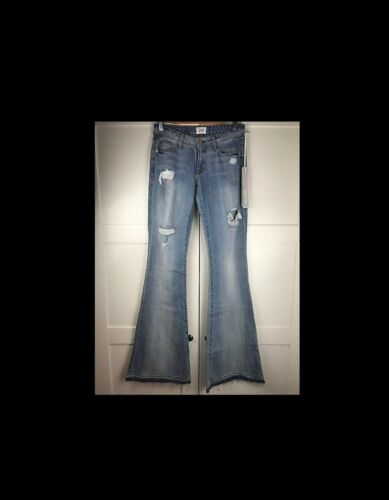 Hudson mia Distressed Net Jeans Small 8 200 A 6 a porter Flare £ W24 Uk AAxrzw