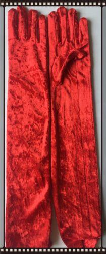LONG VELVET LADIES GLOVES ELBOWS LENGTH 1920/'s  WOMEN/'S FANCY DRESS ACCESSORIES
