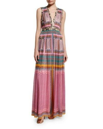 NWT Diane von Furstenberg  Lelani Silk Zen Scarf Dress 12