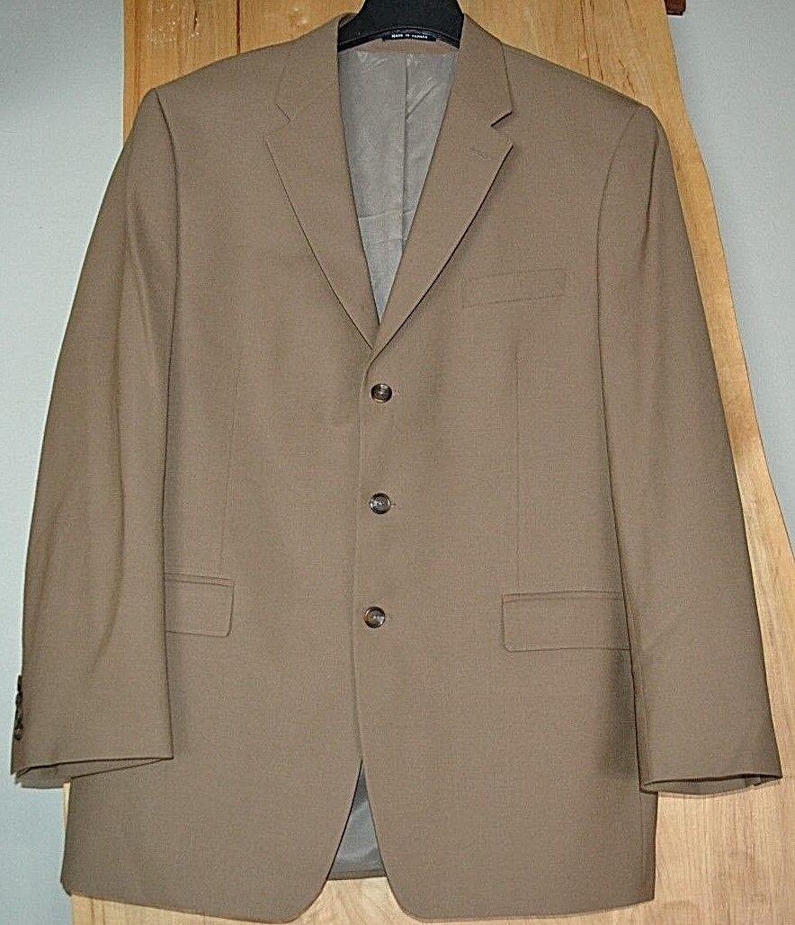 RALPH LAUREN New Tan 3 Button 97% Wool 3% Lycra LONG Blazer Sports Coat Size 44L