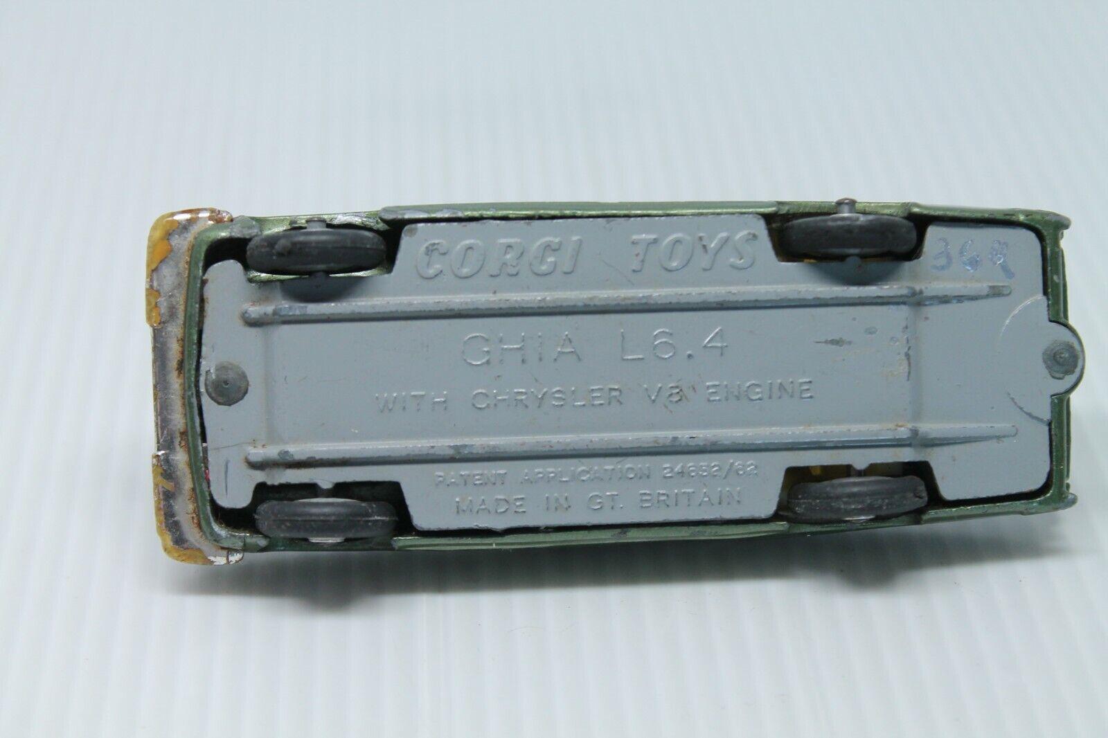 CORGI TOYS  Ghia l6.4 avec chrysler chrysler chrysler engine  1 43 46b4a6