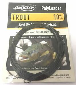 AIRFLO 10ft Trout PolyLeader Fast Sinking - 3.9in/Sec