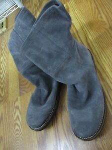 Bronx-Men-039-s-11-44-gray-boot-shoe-casual-mens-fashion-suede-leather