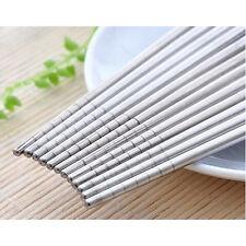 Chopsticks 5 Pairs Stainless Steel Beautiful Gift Set Assorted (10 Chop sticks)
