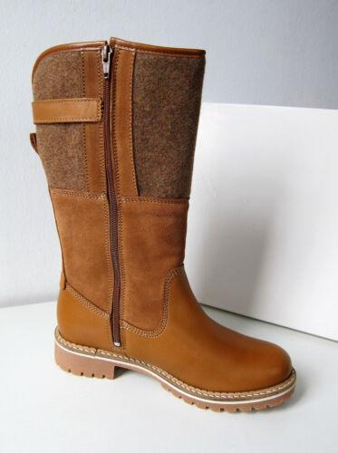 Warm 39 Catser Stiefel Tamaris Nut Boots Blockabsatz Wool Brown Cognac qERXRg