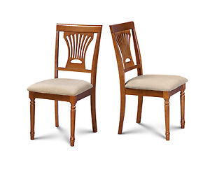 Details about SET OF 4 KITCHEN DINING SIDE CHAIR W/. SOFT-PADDED SEAT IN  SADDLE BROWN