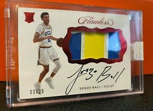 2017-Flawless-LONZO-BALL-RC-Rookie-SICK-3-Color-Patch-Auto-3-20