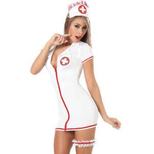 4acfa2f408c Women Sexy Lingerie Teddy Nurse Costume With Leg Belt SM Cosplay ...