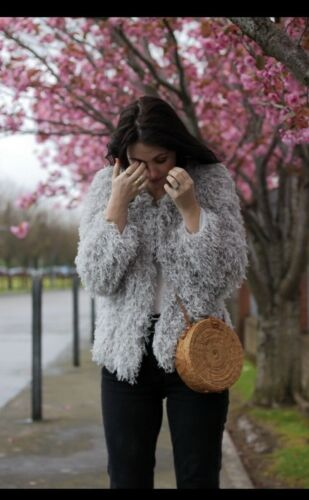 M So On Kvinders Fringe Trøje Nuværende Zara Trend Sz Jakke Goes Shag With Much zfx4wU