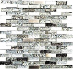 Mosaik-Fliese-Transluzent-Edelstahl-silber-grau-schwarz-87-IL017-f-10-Matten