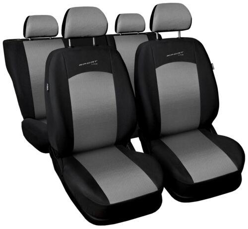 Sitzbezüge Sitzbezug Schonbezüge für Peugeot 207 Hellgrau Sportline Komplettset