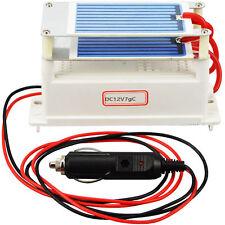 Portable Ozone Generator Car Ceramic Plate DC12v 7g Air Purifier Air Sterilizer