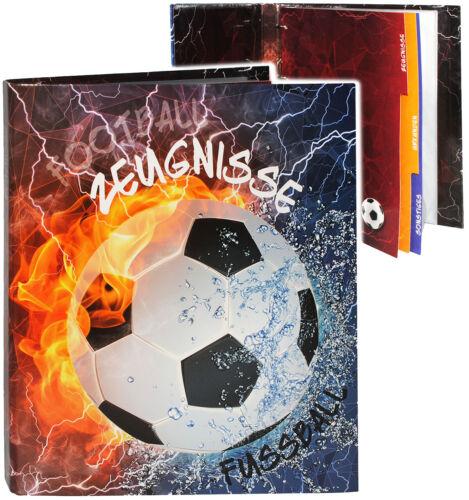 "incl Einsteckse /"" Zeugnisse /"" /_ /"" Fußball /"" A4 Ringbuch // Zeugnisringbuch"