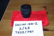 Helios 44-2 58mm f/2  Lens M42 (Pentax/Praktica/Zenit) with caps - VGC