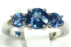 Blue-Sapphire-Ring-18K-white-gold-3-Stone-GIA-Certified-Natural-Heirloom-5-697