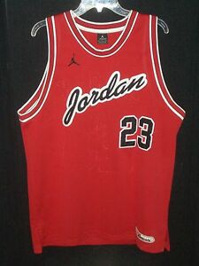 396704e01754 AIR JORDAN 23 Size Adult L Embroidered Authentic Jersey + Nike ...