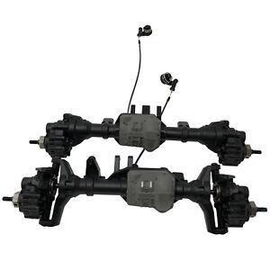 Traxxas-TRX-4-TRX4-avant-et-arriere-essieux-avec-Diff-casiers-portails-amp-HEXS-BRAND-NEW