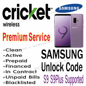 Details about CRICKET UNLOCK CODE SAMSUNG GALAXY S9 S9+ S8 S8+ S7 Plus  G960U G965U G950U G955U