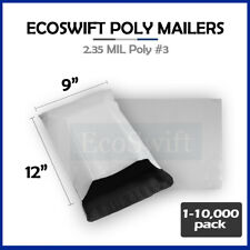1 10000 9 X 12 Ecoswift Poly Mailers Envelopes Plastic Shipping Bags 235 Mil