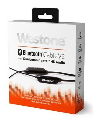 Westone Bluetooth V2 Cable Bluetooth 5.0 Wireless Cable for IEMs with aptX HD