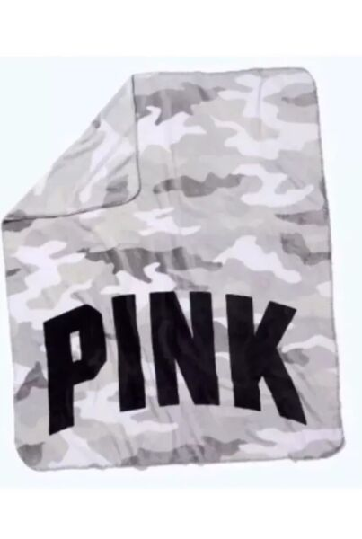 "New Victorias Secret Pink Blanket Cozy Fleece Camo Throw 50""x60"" Zonder Terugkeer"