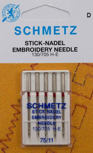 5 SCHMETZ Sticknadeln 130//705 H-E Stärke 75
