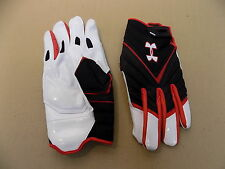 NEW Texas Tech Game Issued Under Armour Combat II Football Lineman Gloves / XXXL