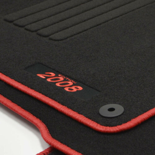 2013-2019 rot Mattenprofis Velours Fußmatten Edition für Peugeot 2008 I ab Bj