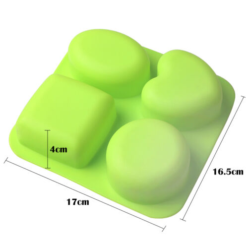 Heart Round Silicone Cupcake Muffin Cake Pudding Chocolate Soap Baking Mold Tray