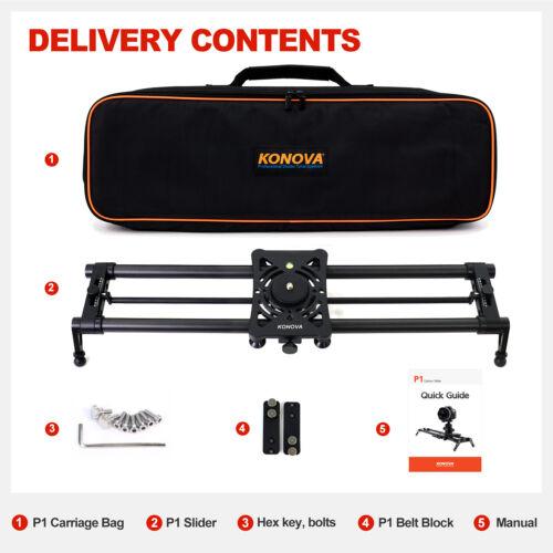 Konova P1 Carbon Camera Slider with Bag Parallax Panorama Stable 2 Sizes exist