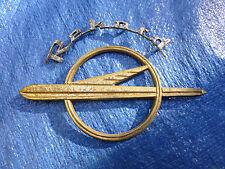 1953-1957 Opel Olympia Rekord hood gold emblem script badge