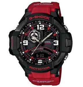 Casio G Shock * G-Aviation Gravity Defier GA1000-4B Red Resin COD PayPal