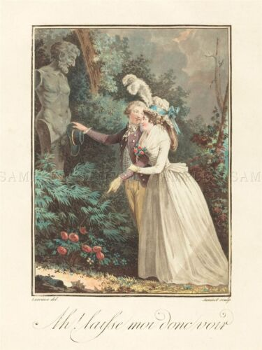 JANINET LAVREINCE FRENCH MODESTY BLUSH OLD ART PAINTING POSTER PRINT BB5808A