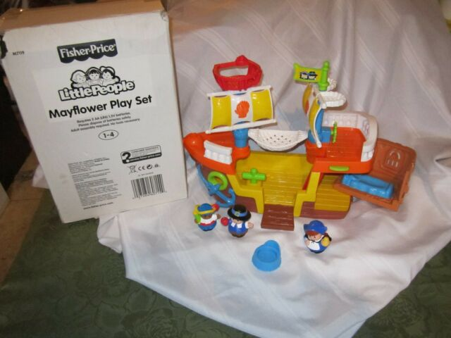 Fisher Price Little People Thanksgiving Mayflower Ship w/ Turkey ...