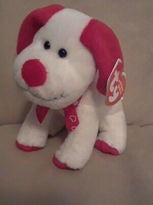 5.5 Inch MWMT Ty Beanie Baby ~ HEARTBEAT the Dog