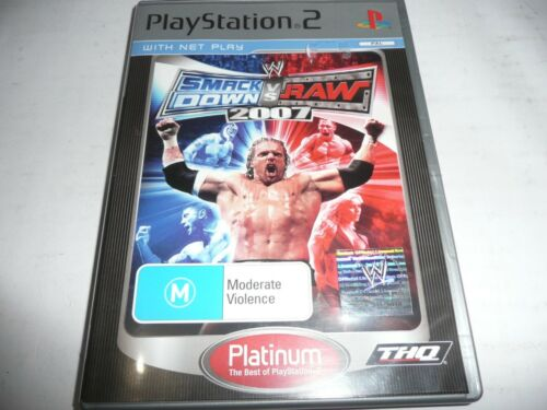1 of 1 - SMACK DOWN VS RAW 2007 PS2 GAME NEW