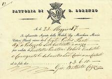 Fattoria di S. Lorenzo Marchesa Maria Vettori Placidi 1857