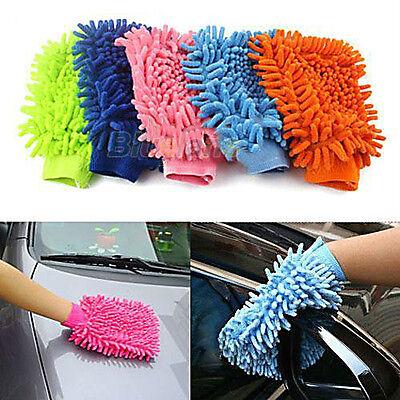 Super Microfiber Car Truch Wash Washing Anti-Scratch Cleaning Glove Brush